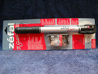**NEW ZEFAL TX SWITCH ALLOY MINI PUMP, BLACK & SILVER WITH FRAME ATTACHMENT**