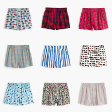 J.CREW Men's 100% Cotton Woven Boxer Shorts Prints Plaids Size S,M,L,XL NWT