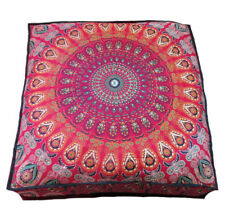 "35X35"" Large Floor Decorative Pillow Cushion Cover Red Mandala Room Decor Throw"
