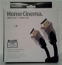 Home cinema cable HDMI High Speed x.v. color homecinema 3d 4k HD 3 metros