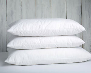 Merino Wool filled pillow removable cotton cover standard size white natural