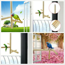 Wooden Rotable Stands Parrot Perch Bird Swing Bird Cage Accessories Birds Toy Kv