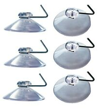 50 x 40mm Clear Suction Cup With Metal Hanging Hook. Ideal For Window Displays