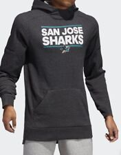$100 ADIDAS SAN JOSE SHARKS SQUAD PULLOVER HOODIE JACKET ADULT L JERSEY STYLE