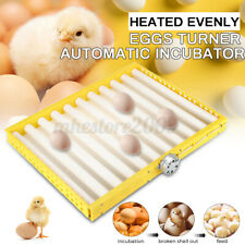 60 Eggs Chicken Turner 360° Automatic Quail Bird Poultry Egg Incubator Tray