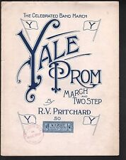Yale Prom Large 1912 Format Sheet Music