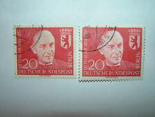 1958 BERLIN OUEST 20pf Otto suhr X 2 VFU (sgB177) CV £ 5.50