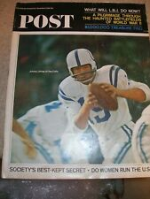 December 1964 Saturday Evening Post Baltimore Colts Johnny Unitas Don Shula HOF