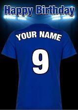 A5 Personalised Everton Shirt Football Greeting Birthday Card Any Name PIDMFF2