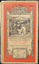"Land's End 1919 Vintage Ordnance Survey Popular Edition 1"" Map Sheet 146"