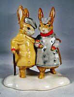 "Beswick Beatrix Potter: ""Two Gentlemen Rabbits"". RARE figurine."