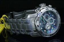Invicta Pro Diver Scuba Special Edition 1.0Blue Abalone Dial Chrono SS Watch NEW