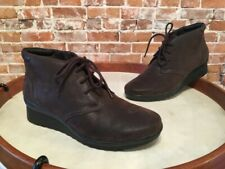 Clarks Brown Cloud Steppers Caddell Hop Lace Up Ankle Boot NEW