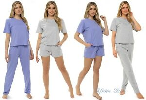 Womens New Summer PYJAMAS & SHORTS Cotton LOUNGEWEAR Sets Ladies Nightwear