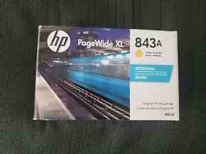 Genuine HP 843A C1Q58A Yellow Ink Cartridge PageWide XL4000 4500 5000 EXP AUG 22