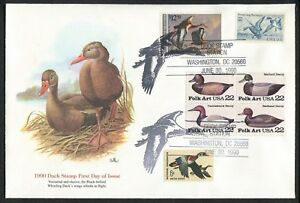 1990 Washington DC Duck Stamp #RW57 Don Balke Fleetwood First Day Cover