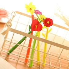 8Pcs Fashion Cute Flower Flora Leaf Gel Ball Pen Office School Supply Stationery