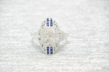 Anelli di lusso con gemme zaffiro , Misura anello 17