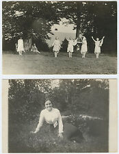 Women in the Park One is Julia by Name While Others Dance - Real Photo RPPC