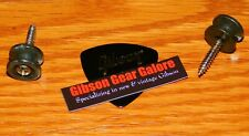 Electric Guitar Strap Buttons Relic Black Guitar Parts Locks Custom Gibson Pick