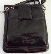 Rolf's Megan Crossbody Patent Leather Bag,Black