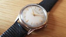 VERY RARE VINTAGE USED GIRARD PERREGAUX GYROMATIC 18K GOLD CAP MAN'S WATCH