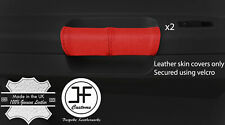 RED REAL LEATHER 2X REAR DOOR HANDLE COVERS FOR CHRYSLER 300C 2005-2011