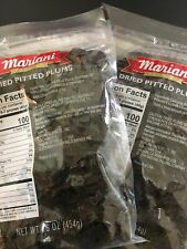 2 Packs Of Mariani Dried Pitted Plums 16 0Z *BRAND NEW*exp: AUG/2021