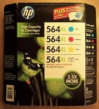 HP 564XL High Capacity C,M,Y Ink Cartridge Kit, No Photo Black - Genuine HP Ink!
