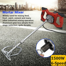 1500W Variable 6 speed Handheld Electric Concrete Cement Mixer Mortar Usa