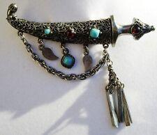 RARE Vintage WEISS Saber in a Scabbard/Sword/Dagger Tassel Brooch