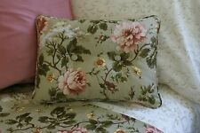 NEW Custom Ralph Lauren Yorkshire Rose Floral Accent Pillow Button 2 Button