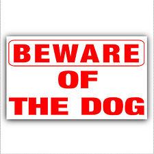 Diffidare degli dog-adhesive VINILE sticker-security avvertimento domestica o aziendale