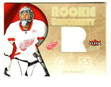 2005-06 Fleer Ultra ROOKIE UNIFORMITY JERSEY RELIC RU-JH JIM HOWARD RC Red Wings