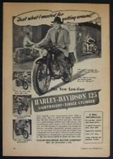 1948 Harley Davidson 125 *Just What I Wanted for Getting Around* Motorcycle AD