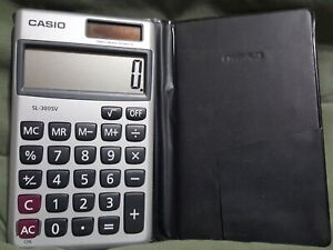 Casio SL-910LA Solar & Battery Powered Standard Function Calculator Wallet Size