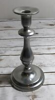 """Wilton  Pewter 9"""" Candlestick Plough Tavern Vintage With Taper Tapper"""