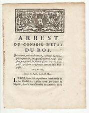 1775 May 19, French Royal act Concerning Cods fishing, Wroth # 1846, Canadiana