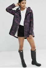 Hunter Ladies Lightweight Waterproof Hooded Raincoat Mac Jacket Smock XS £155