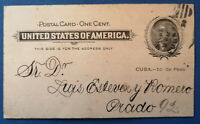 1899 US Military Rule in Cuba ~ New Year's Wishes sent to Luis Estevez Romero