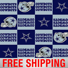 "Fleece Fabric Dallas Cowboys NFL Anti Pill 60"" Wide Free Shipping Style DAL-6277"
