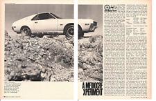 1970 AMC AMX 390/325 HP ~ ORIGINAL 4-PAGE ROAD TEST / ARTICLE / AD