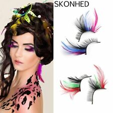 HOT!Women Fancy Soft Long Feather False Eyelashes Eye Lashes Makeup Party Club