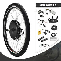 36/48V Electric Bicycle Front/Rear Wheel E-bike Conversion Kit Cycling Motor 26""