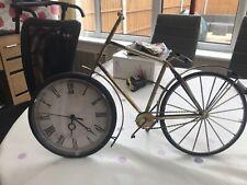 Bicycle Clock Stand Vintage Looking Metal Frame Plastic Clock Battery