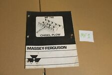 Massey Ferguson Mf 740 Chisel Plow Booklet Manual Operator Owners