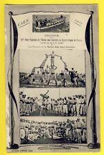 CPA 14 - CAEN en 1911 Fête Fédérale GYMNASTIQUE Les MOUSSES de la MARINE Navy