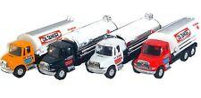 "(SET OF FOUR) 5.5"" Oil Tanker Trucks, Assorted Colors w/Pullback Motor Action"