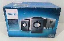 Philips Multimedia Speakers 2.1 W/ Subwoofer Model SPA1330/37 Computer 3.5mm NIB