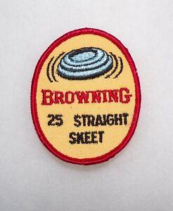 Original USA Browning Shotguns 25 Straight Skeet Cloth Jacket Patch 1970s